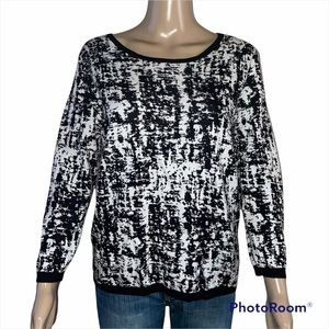 Vince Camuto pixel print sweater